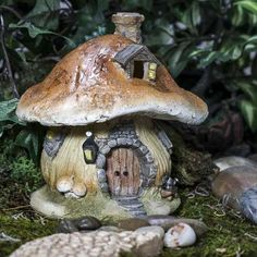 Mushroom Fairy House - Miniatures - View All - Dollhouse Miniatures - Doll Making Supplies - Craft Supplies