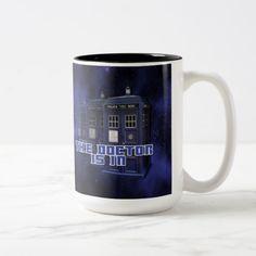 Police Call Box Coffee Mug Custom Office Retirement Police Call, Police Box, Beer Mugs, Coffee Mugs, Galaxy Background, Two Tones, Custom Mugs, Box Design, Morning Coffee