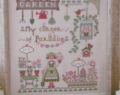 Chart Sweet Spring with inscription English Italian | Etsy