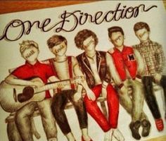 ART :: One Direction Illustration - by Unknown Artist