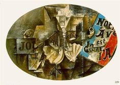 The shell Saint Jacques (Our future is in the air) - Pablo Picasso 1912 Pablo Picasso, Art Picasso, Trinidad, Coquille Saint Jacques, St Jacques, Spanish Painters, Art Database, Art Moderne, Vincent Van Gogh