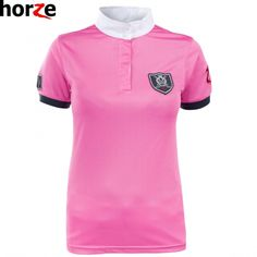 Horze Cool Competition Shirt, £24.50. Add some pink to your competition outfit with this cerise number. #equestrian #competition #shirt #showjumping