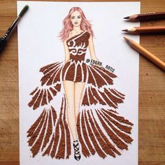 With hisFood Fashion series, the Armenianillustrator and fashion designer Edgar Artisis having fun imaginingcreative and very appetizing culinary dresse