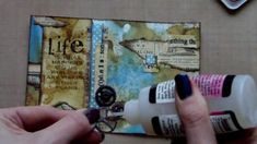 Mixed Media Postcard Art - Life tutorial. *What a cool ATC card. I am envious of people who are super artistic and creative! And all of the products and techniques she uses are inspiring. I would love to have a collection of products like this and to also know how to use them.* 8/16/14