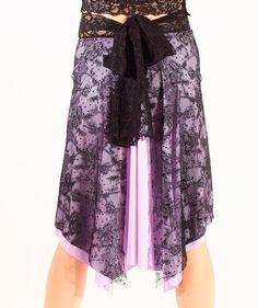 Black Lace over Lavender Tango Skirt 6701 von PanTango auf Etsy