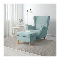 STRANDMON Reposapiés - Skiftebo turquesa claro - IKEA