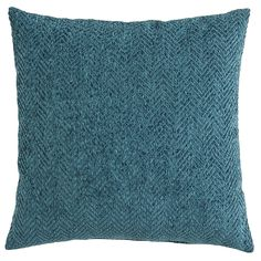 Herringbone Chenille Pillow - Shaded Spruce | Pier 1 Imports