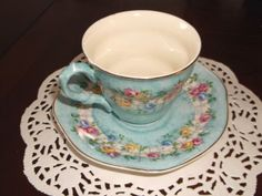 Vintage James Kent England China Floral Blue by catherinemoore2003, $18.00