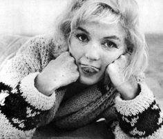 Marilyn Monroe being silly... tongue. A lady to the end.