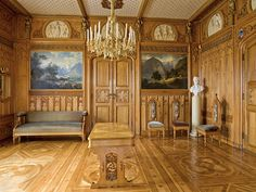 The King's Dayroom Oscarshall castle is located in the small fjord Frognerkilen on Bygdøy in Oslo, Norway. Photo: Jan Haug