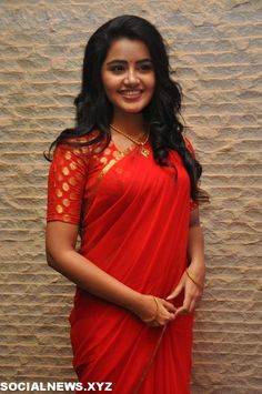 Anupama Parameswaran Hot in Red Saree Latest Photos HD Stills Beautiful Girl Indian, Most Beautiful Indian Actress, Beautiful Saree, Beautiful Women, Simple Lehenga, Simple Sarees, Indian Bridal Outfits, Indian Dresses, Indian Women Painting