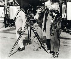 Charlie Chaplin with Douglas Fairbanks, Mary Pickford, and Thomas Edison.