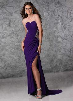 Vintage Sweetheart Purple Sheath Column Military Ball Dress