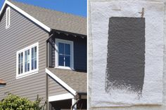 shutter color?--Best Exterior Gray Outdoor House Paint Color, ICI Grey Hearth, Gardenista