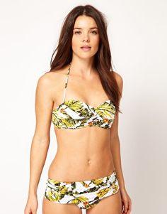 Enlarge Seafolly Skirted Hipster Bikini Bottom With Banana Print