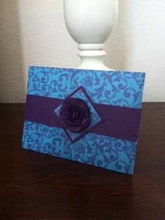 Purple and Blue Wedding Invitation by GrannyAndCompany on Etsy, $5.75