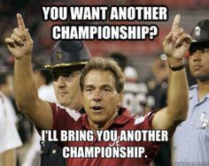 """Happy Birthday: Nick Saban October 1951 - Nicholas Lou """"Nick"""" Saban is an American college football coach and the current head coach of the University of Alabama Crimson Tide football team. Crimson Tide Football, Alabama Football, Alabama Crimson Tide, Alabama Baby, Football Decor, Lsu, American Football, College Football Teams, Football Memes"""