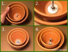 Picture of Inserting Second Ceramic Pot - Diy Pizza Oven Flower Pot Crafts, Clay Pot Crafts, Flowerpot Heater, Terra Cotta Heater, Diy Utile, Diy Heater, Homemade Heater, Diy Candle Heater, Fleurs Diy