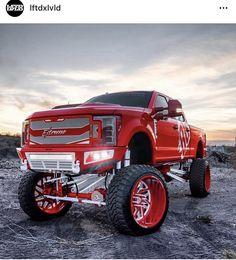 Big Ford Trucks, Jacked Up Trucks, Jeep Truck, Cool Trucks, Pickup Trucks, Cool Cars, Street Racing Cars, Truck Accessories, A Team