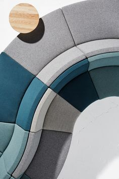 Derlot Editions - Guell is a collection of modular seating units available in both work / dining and casual / relaxation styles. The range is available in curved or straight pieces and includes backless ottomans for endless arrangement possibilities