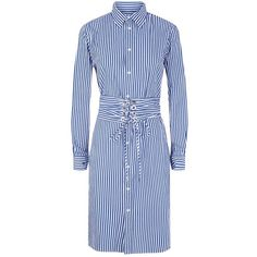 c9674184cbcc Polo Ralph Lauren Striped Shirt Dress (1.480 DKK) ❤ liked on Polyvore  featuring dresses