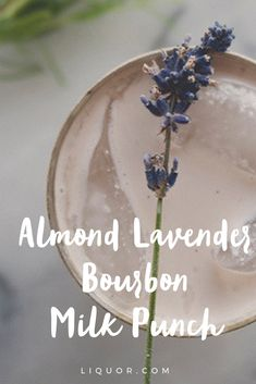 No dairy? No problem. This almond lavender bourbon milk punch is perfect for those #dairyfree #cocktail loving folks out there!