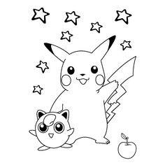 Free printable Pokemon and Pikachu coloring pages, Pokemon party ...