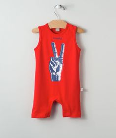 66b9ffecabbe4 This peace sign baby romper is a real crowd pleaser! Your special little  patriot…