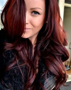 long reddish brown hair color