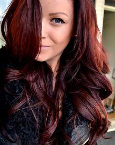 long reddish brown hair color