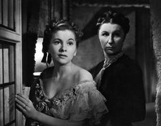 Joan Fontaine and Judith Anderson in Rebecca 1940. Directed by Alfred Hitchcock.