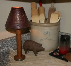 DIY Spool Lamp