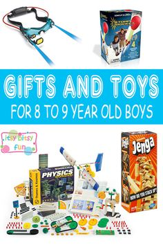 Best Gifts For 8 Year Old Boys. Lots of Ideas for 8th Birthday, Christmas and 8 to 9 Year Olds