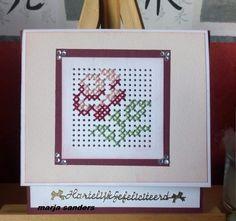Mini Cross Stitch, Cross Stitch Cards, Cross Stitch Flowers, Cross Stitching, Cross Stitch Embroidery, Cross Stitch Patterns, Machine Embroidery, Cross Crafts, Marianne Design