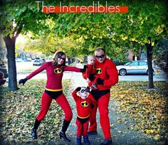 This superhero costume is fun for the entire family.Follow the link below for step-by-step instructions on making these costumes.
