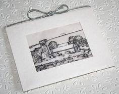 Hand made wedding invitation using a photograph.