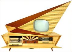 The TV, record player, tape deck combo sold for $649 at the West Germany, Radio And Television Exhibit - 1959.