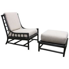 Lounge Chair and Ottoman by Tommi Parzinger for Willow & Reed   From a unique collection of antique and modern lounge chairs at https://www.1stdibs.com/furniture/seating/lounge-chairs/