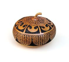 Hand Carved Gourd Art Intricate Detail Mayan Morning Carving on Etsy, € 112,83