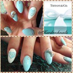 Tiffany .co nails by hard rock nail . Nail salon in toronto