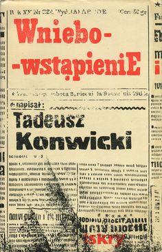 WNIEBOWSTĄPIENIE, Warszawa 1967, book cover by Jan Młodożeniec