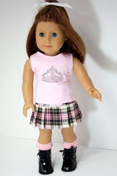 American Girl Doll Clothes Pink TShirt with by sewurbandesigns
