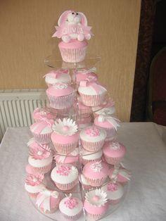 Image result for christening cake & cupcakes for girl stars