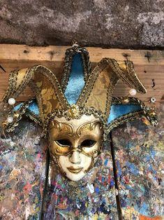 Venetian MaskJolly MaskOriginal Venetian MaskVenice | Etsy Venice Mask, Ceramic Mask, Austro Hungarian, Amazing Decor, Garden Items, Lucky Charm, Acrylic Colors, Christmas Tree Ornaments, Venetian