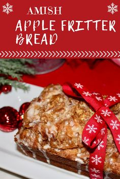 A Delicious Quick Bread perfect for Gift Giving . Free tutorial with pictures on how to bake a loaf of apple bread in under 80 minutes by cooking and baking with brown sugar, cinnamon, and unsalted butter. Inspired by christmas, religious & spiritual, . Amish Recipes, Easy Bread Recipes, Apple Recipes, Baking Recipes, Sweet Recipes, Grandma's Recipes, Breakfast Bread Recipes, Dutch Recipes, Breakfast Muffins