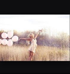 Balloons in a meadow