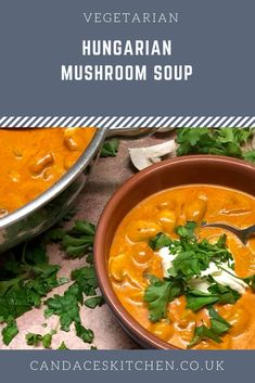 Hungarian mushroom soup is a rustic, comforting dish made using paprika, white wine, and sour cream for an earthy, tasty mushroom soup recipe that will be on the table in 25 minutes. Hungarian Mushroom Soup, Great Recipes, Dinner Recipes, Mushroom Soup Recipes, Stir Fry, White Wine, Sour Cream, Earthy, Stuffed Mushrooms