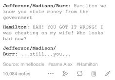 Legitimately how this went down. Hamilton.