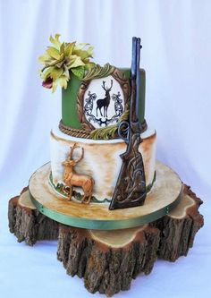 For hunter - cake by ZuziNyx - CakesDecor You are in the right place about Cake Design compleanno Here we offer you the most beautiful pictures about the white Cake Design you are looking for. Birthday Cakes For Men, Hunting Birthday Cakes, Hunting Cakes, Hunting Grooms Cake, Camo Grooms Cake, Hunting Gifts, Camo Cakes, Deer Cakes, Gun Cakes
