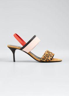 PIERRE HARDY ALPHA PAR MIXED-MEDIA SINGBACK SANDALS. #pierrehardy #shoes Jeweled Sandals, Pierre Hardy, Desert Boots, Ballerina Flats, Suede Sandals, Open Toe, Heeled Mules, Kitten Heels, Product Launch